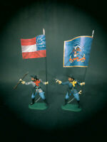 70mm Fahnen für American Civil War ACW z.B. Elastolin & Germania Update 07.07.20