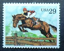 2756 MNH 1993 29c Steeplechase Sports Horses Equestrian jumping Kentucky Derby
