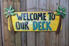 TROPICAL TIKI BAR HUT DECK POOL BEACH  HAND MADE PERSONALIZED SIGN  PLAQUE