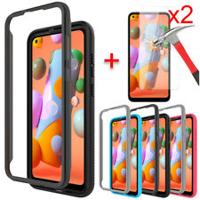 For Samsung Galaxy A11 Case Shockproof Bumper Slim Phone Cover Screen Protector