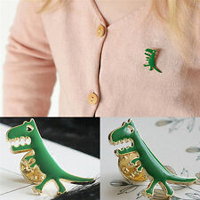 Green Dinosaur Badge Lapel Pin Brooch For Bag Backpack Accessories Kids Gift Ff