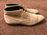 Tod's Men's Lace-Up Ankle Chukka Dress Boots in Suede Size 8.5
