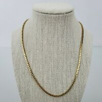 Merlite Chain Necklace Gold Tone Chunky Snake 18 inch