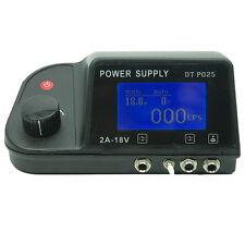 Digital Dual Machine Tattoo Power Supply LCD Display W Clip Cord &ft Switch P025
