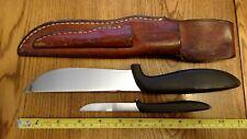 GERBER Portland ORE. U.S.A. Hunting Knife Big Hunter & Pixie Leather Sheath RARE