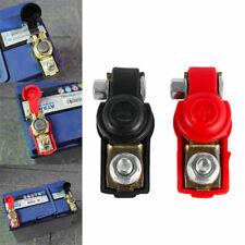 2x Quick Release Battery Terminals Clamps Pair Car Caravan Low Profile Motorhome
