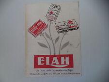 advertising Pubblicità 1949 ELAH CUBIK/CREMA DA TAVOLA/GHIACCIO MENTA