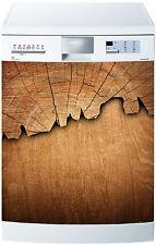 Sticker lave vaisselle déco cuisine électroménager Bois réf 592 60x60cm
