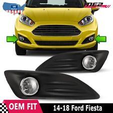 For 2014-2016 Ford Fiesta Winjet OE Factory Fit Fog Light Bumper Kit Clear Lens