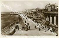 Old Blackpool Postcard,Gynn Showing Cliffs & Boating Pool, Bridge House