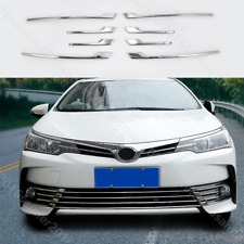 8pcs Euro steel Front Grille grill Cover trim FIT For toyota Corolla 2017-2018