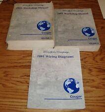 2001 Mercury Cougar Shop Service Manual 1 & 2 + Wiring Diagram Set 01