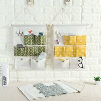 7-Grid Hanging Storage Bag Organizer Container Decor Pocket Pouch Door Wall USA