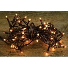 Teeny Tiny Rice Light String Brown Cord - 35 Count