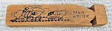 """Vintage Solid Pine Wood 6"""" Long Toy Train Whistle Usa Free S/H"""