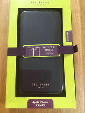 Ted Baker Black Mirror Folio iPhone XS Max Phone Case With Rose Gold Trim