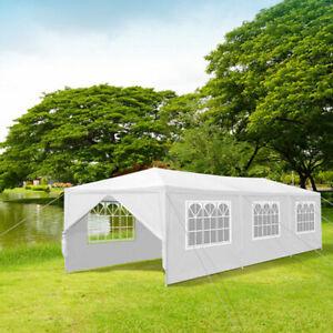 10'x30' Outdoor Canopy Party Wedding Tent White Gazebo Pavilion w/8 Side Walls