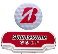 BRIDGESTONE JAPAN Golf Cap Clip Ball Marker GAG503 Black Red