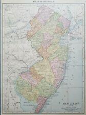 Rand McNally 1916 Map of New Jersey
