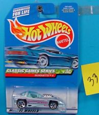 C33 HOT WHEELS CLASSIC GAMES SERIES SILHOUETTE II #982 TOSS ACROSS NEW ON CARD