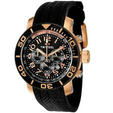 TW Steel Grandeur Diver Black Rubber Chronograph Dial Mens Watch TW92 48mm New