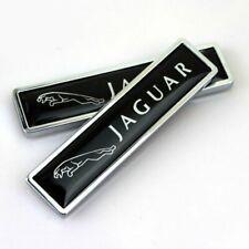 For 2PCS JAGUAR Chrome Luxury Car Body Fender Metal Emblem Badge Sticker Decal