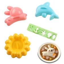 4Pcs Rabbit Sushi Rice Mold DIY Kit Kitchen Dolphins Bento Lunch Ball Sushi Tool
