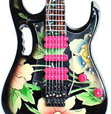 Miniature Guitar Steve Vai Floral Pattern Black Ibanez Jem V Cool Free Shipping