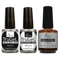 Ezflow TRUGEL UV Polish Top & Base Coat + Powerbond Primer 3 Pack - 3 x 14ml