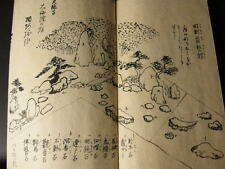 Antique Japanese Hand-Written Landscape gardening Book Manuscript
