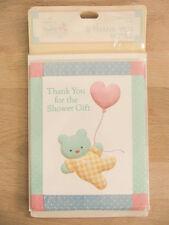 New Hallmark Vintage Baby 8 Thank You Shower Gift Notes & Envelopes