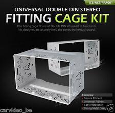 Universal Double Din Fitting Cage 108mm x 180mm / Universal 2-DIN Einbaurahmen