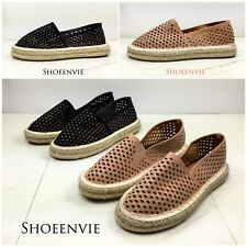 3fe42a82d1f3 New Women Qupid Sequoia Jute Rope Rhinestone Embellishment Geometric Cutout  Flat