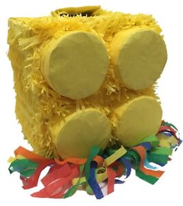 Yellow Brick Pinata for Building Block Party