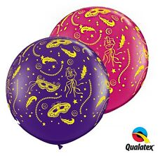 2 x 3ft Latex Balloons Masquerade Design Ideal Party Decoration