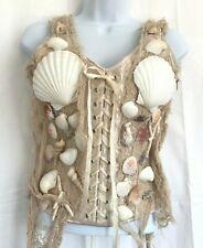 Corset Bustier Mermaid Costume S Cosplay Sea Shell Netting Nautical Sexy Siren