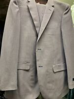 New 40S Men's SLIM Seersucker Stripe Suit Made in Italy Retail $1295