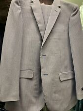 New 48R Men's SLIM Seersucker Stripe Suit Made in Italy Retail $1295