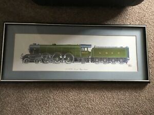 The Flying Scotsman Print Signed And Framed