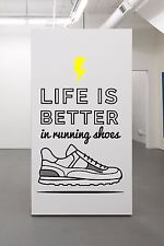Quote Wall Decal for Runners, Run Quote Decal Sticker Adidas Nike Sticker Decal