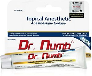 Dr Numb 5% Cream Skin Numbing for Body Ink, Waxing Piercing (10gm)