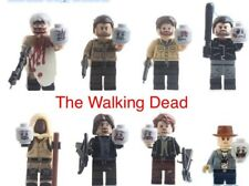 The Walking Dead Rick Daryl Carol Carl Negan Miniature Figures Building Blocks