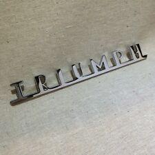 TRIUMPH  TR3 TR3A TR3B  Rear CHROME EMBLEM ** Brand New