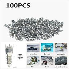 100 un. 9mm Tornillo en Consejos de carburo de neumático con cuerpo de acero para coche/camión/ATV
