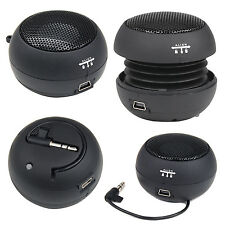 Black Mini Portable Travel Bass Speaker for iPod iPhone iTouch iPad MP3 - By DIG