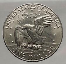 1977  President Eisenhower Apollo 11 Moon Landing Dollar USA Coin  i46209