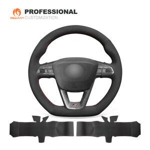 Suede Car Steering Wheel Cover for Seat Leon Ibiza (FR CUPRA) Alhambra Arona FR