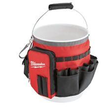 Milwaukee Bucket Organizer Wrap w/ 32 Pockets Tool Storage Bag Red w/out Bucket
