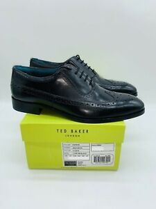 Ted Baker Men's Asonce Brogues Dress Shoes - Black Leather , choose size