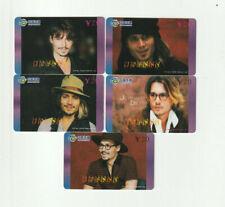 (5) Johnny Depp Rare Phone Cards